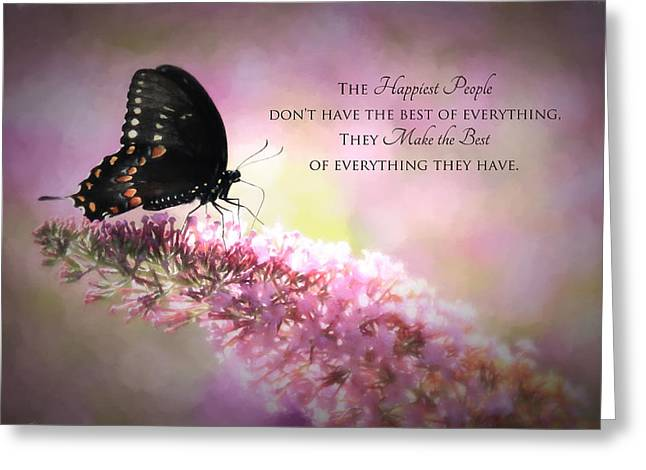 Swallow Tail Greeting Cards - Happiest People Greeting Card by Lori Deiter