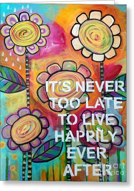 Carla Bank Greeting Cards - Happily ever after Greeting Card by Carla Bank