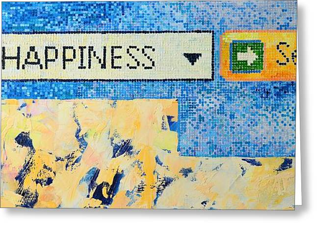 Alienating Greeting Cards - Happiness Greeting Card by Ana Maria Edulescu