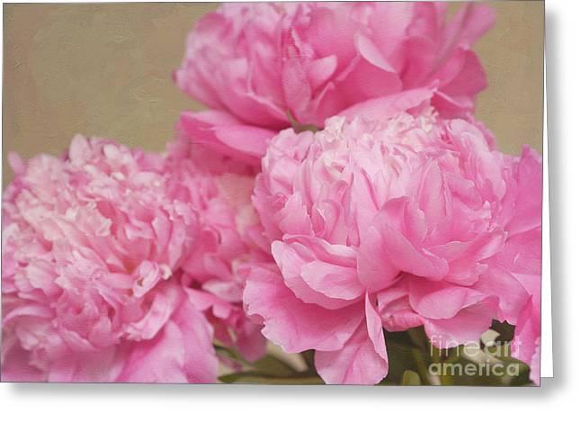 Happiness in Pink Silk Greeting Card by Irina Wardas