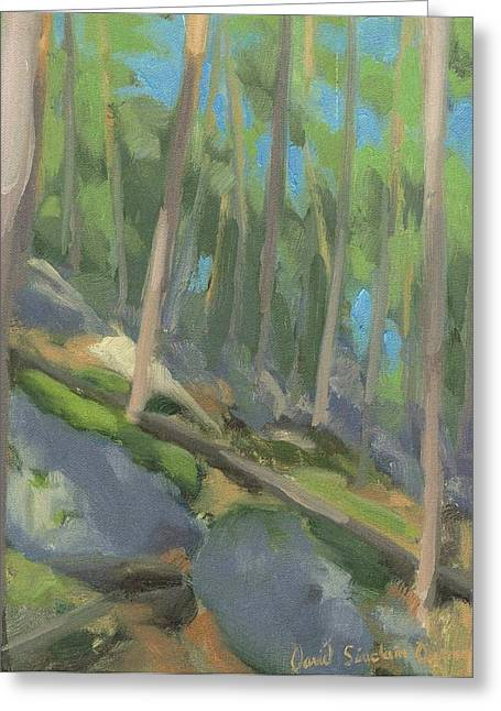 Fontainebleau Forest Greeting Cards - Happiness in the Forest - Bonheur dans la foret Greeting Card by David Ormond