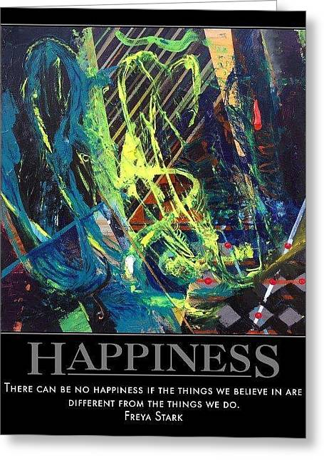 Splashy Greeting Cards - Happiness SOLD Greeting Card by Sylvia Greer