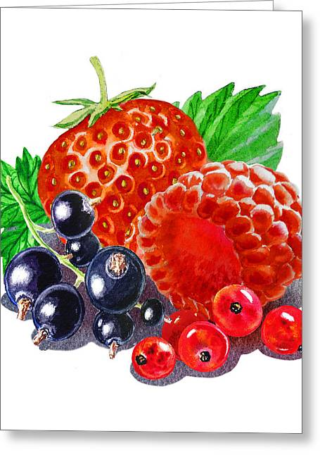 Purchase Greeting Cards - Happy Berry Mix Greeting Card by Irina Sztukowski
