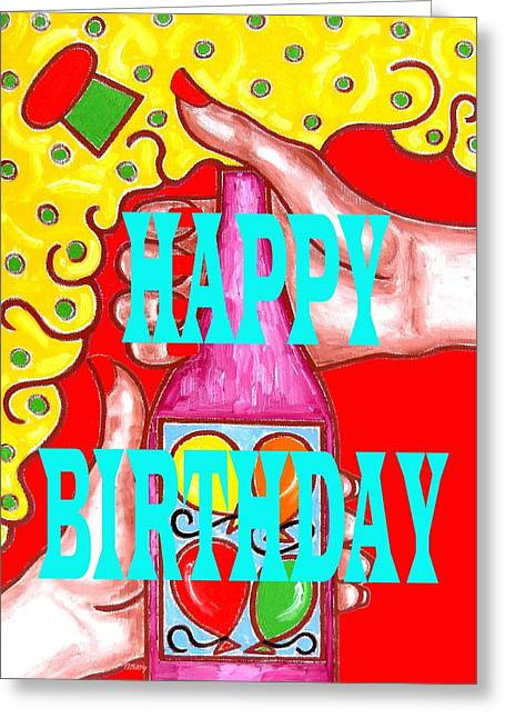 Celebration Art Print Greeting Cards - Happy Birthday 1 Greeting Card by Patrick J Murphy
