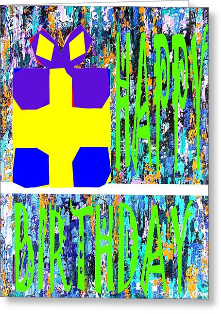 Celebration Art Print Greeting Cards - Happy Birthday 10 Greeting Card by Patrick J Murphy