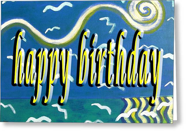 Celebration Art Print Greeting Cards - Happy Birthday 100 Greeting Card by Patrick J Murphy
