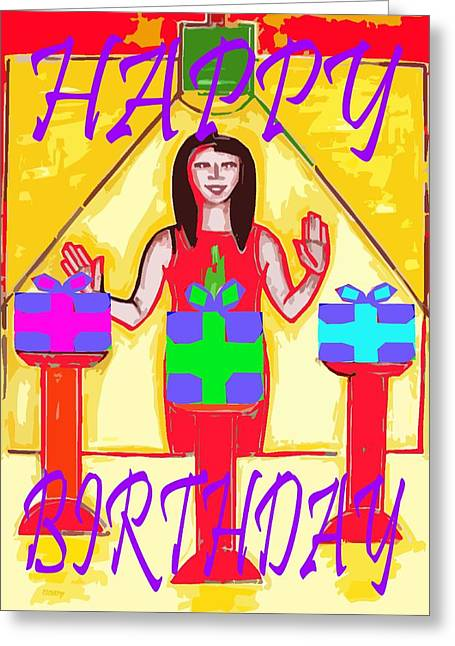 Celebration Art Print Greeting Cards - Happy Birthday 11 Greeting Card by Patrick J Murphy
