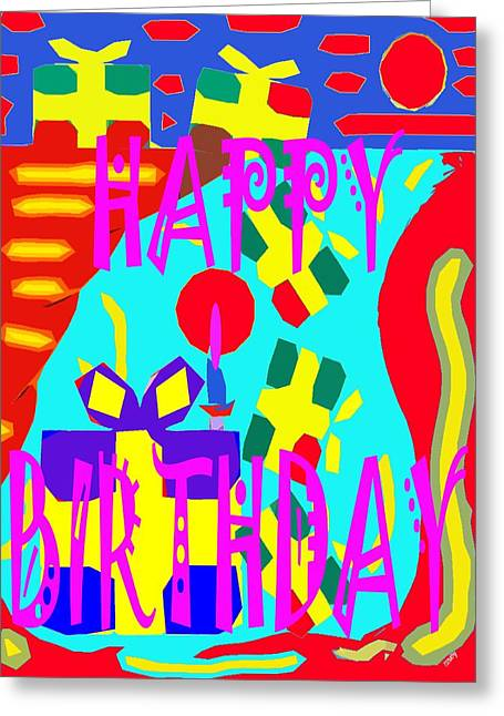 Celebration Art Print Greeting Cards - Happy Birthday 12 Greeting Card by Patrick J Murphy