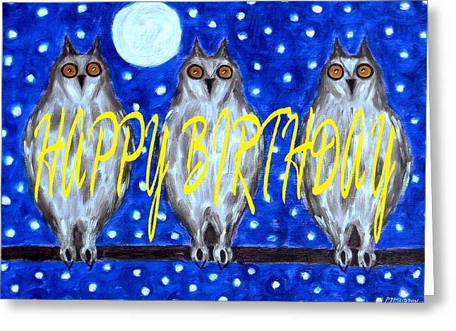 Celebration Art Print Greeting Cards - Happy Birthday 13 Greeting Card by Patrick J Murphy