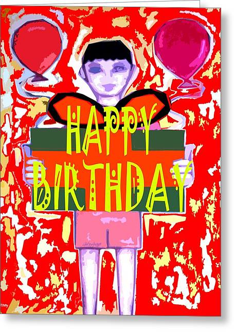 Celebration Art Print Greeting Cards - Happy Birthday 14 Greeting Card by Patrick J Murphy