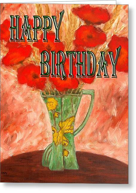 Celebration Art Print Greeting Cards - Happy Birthday 16 Greeting Card by Patrick J Murphy