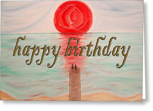 Celebration Art Print Greeting Cards - Happy Birthday 17 Greeting Card by Patrick J Murphy
