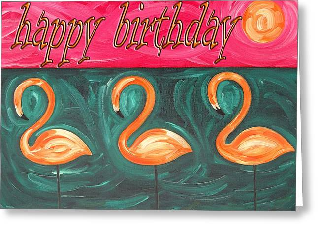 Celebration Art Print Greeting Cards - Happy Birthday 18 Greeting Card by Patrick J Murphy