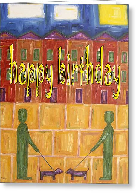 Celebration Art Print Greeting Cards - Happy Birthday 19 Greeting Card by Patrick J Murphy