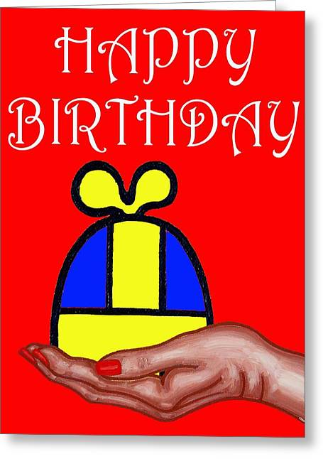 Celebration Art Print Greeting Cards - Happy Birthday 2 Greeting Card by Patrick J Murphy