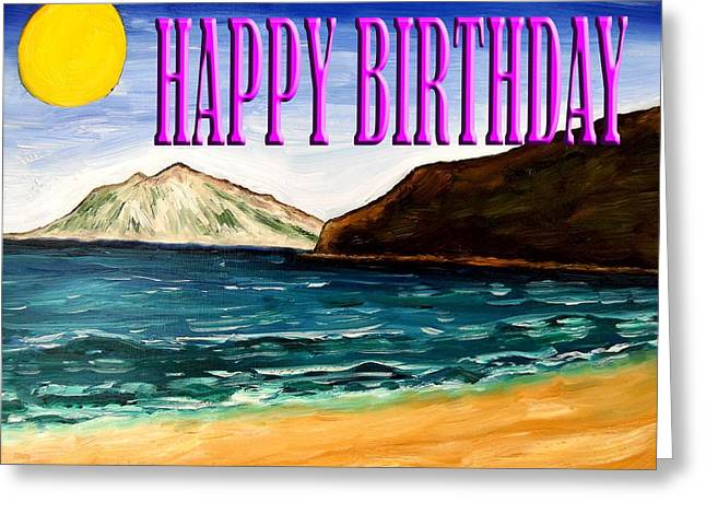 Celebration Art Print Greeting Cards - Happy Birthday 21 Greeting Card by Patrick J Murphy