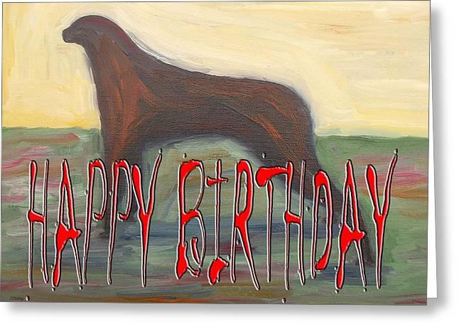 Celebration Art Print Greeting Cards - Happy Birthday 22 Greeting Card by Patrick J Murphy