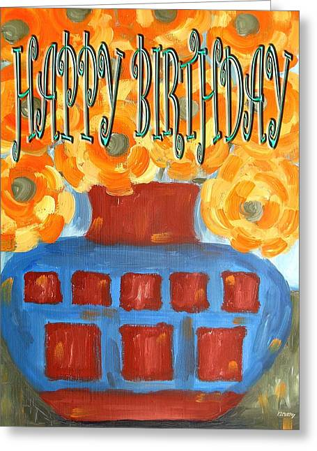 Celebration Art Print Greeting Cards - Happy Birthday 23 Greeting Card by Patrick J Murphy
