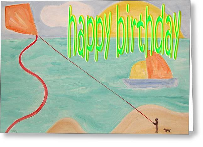 Dog Beach Card Greeting Cards - Happy Birthday 26 Greeting Card by Patrick J Murphy