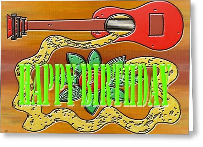 Celebration Art Print Greeting Cards - Happy Birthday 27 Greeting Card by Patrick J Murphy