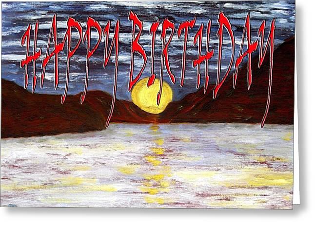 Celebration Art Print Greeting Cards - Happy Birthday 28 Greeting Card by Patrick J Murphy