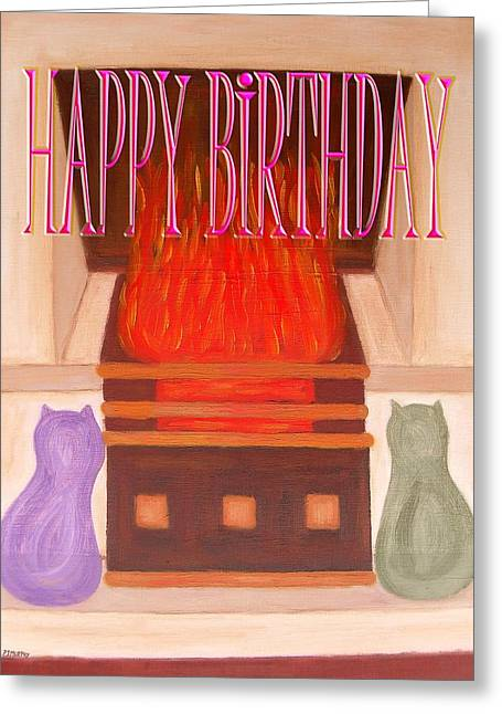 Celebration Art Print Greeting Cards - Happy Birthday 29 Greeting Card by Patrick J Murphy