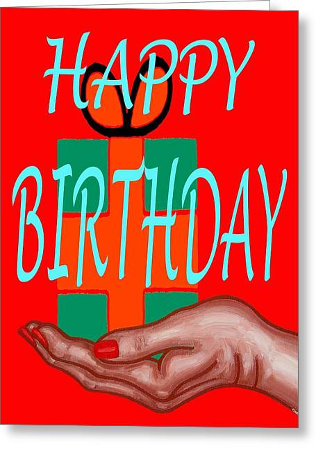 Celebration Art Print Greeting Cards - Happy Birthday 3 Greeting Card by Patrick J Murphy