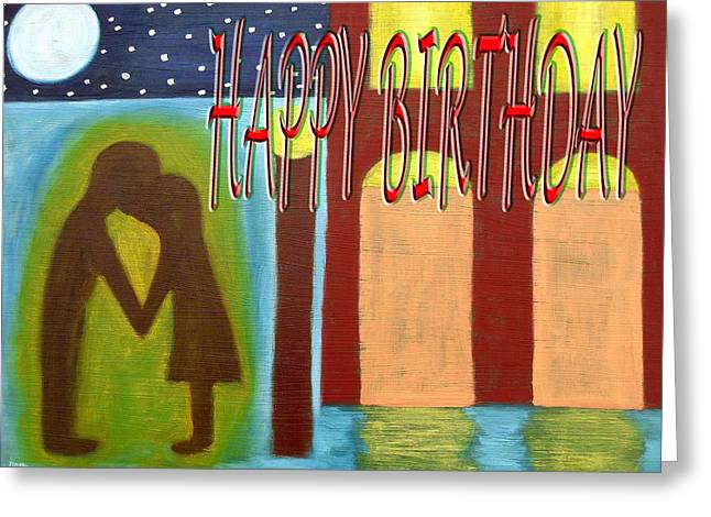 Celebration Art Print Greeting Cards - Happy Birthday 30 Greeting Card by Patrick J Murphy