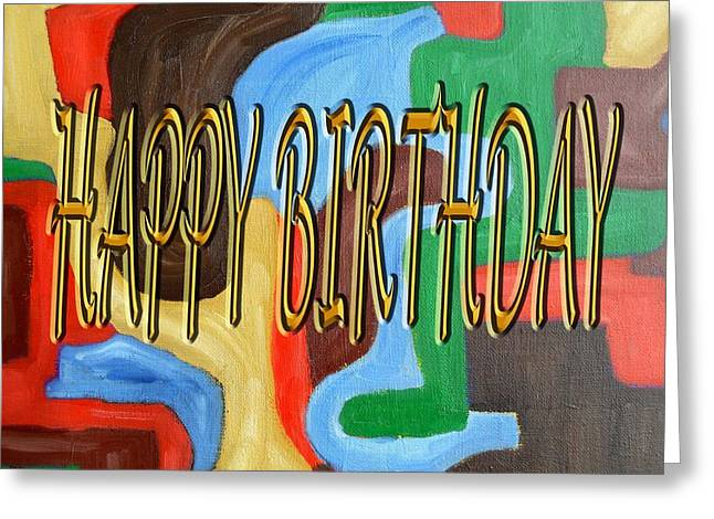 Celebration Art Print Greeting Cards - Happy Birthday 31 Greeting Card by Patrick J Murphy