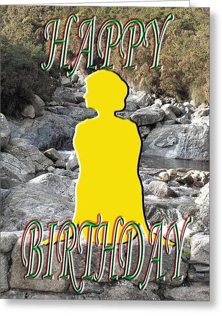 Celebration Art Print Greeting Cards - Happy Birthday 32 Greeting Card by Patrick J Murphy