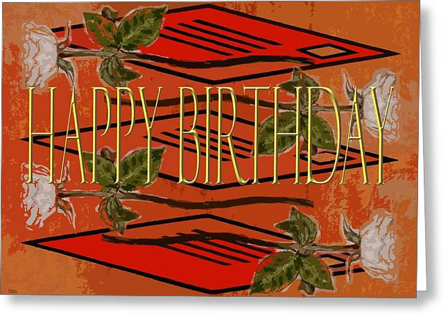Celebration Art Print Greeting Cards - Happy Birthday 34 Greeting Card by Patrick J Murphy