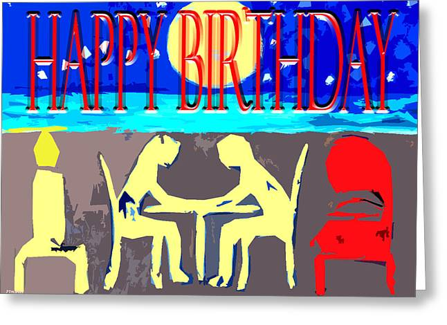 Celebration Art Print Greeting Cards - Happy Birthday 35 Greeting Card by Patrick J Murphy
