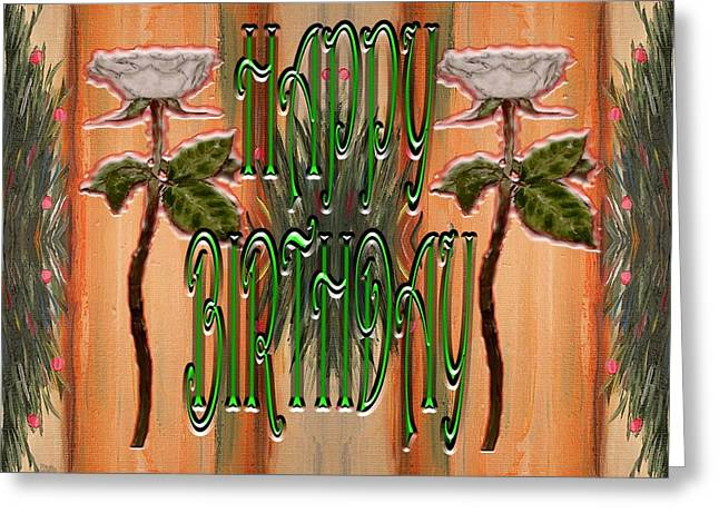 Celebration Art Print Greeting Cards - Happy Birthday 37 Greeting Card by Patrick J Murphy