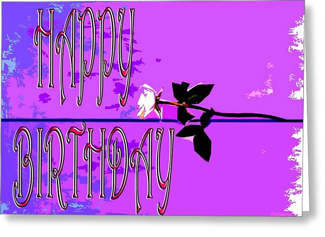 Celebration Art Print Greeting Cards - Happy Birthday 39 Greeting Card by Patrick J Murphy