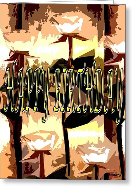 Celebration Art Print Greeting Cards - Happy Birthday 40 Greeting Card by Patrick J Murphy