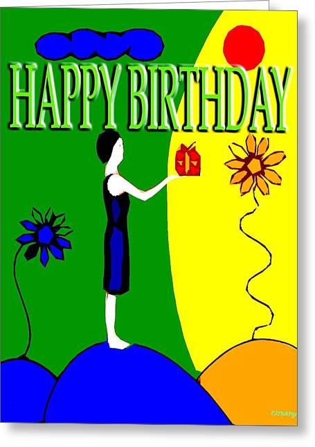 Celebration Art Print Greeting Cards - Happy Birthday 41 Greeting Card by Patrick J Murphy