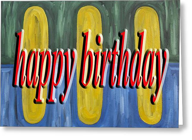 Celebration Art Print Greeting Cards - Happy Birthday 44 Greeting Card by Patrick J Murphy