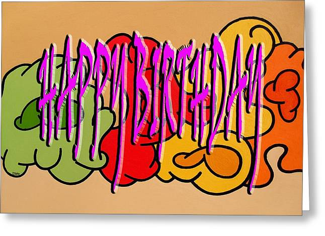 Celebration Art Print Greeting Cards - Happy Birthday 45 Greeting Card by Patrick J Murphy