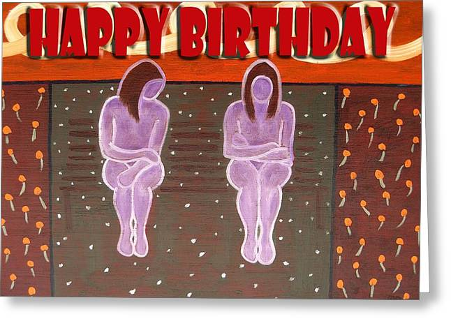 Tablets Greeting Cards - Happy Birthday 46 Greeting Card by Patrick J Murphy