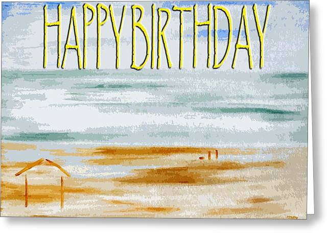 Dog Beach Card Greeting Cards - Happy Birthday 53 Greeting Card by Patrick J Murphy