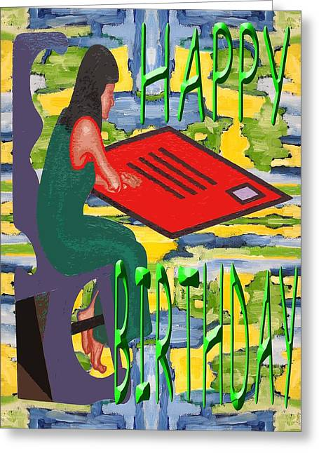 Tablets Mixed Media Greeting Cards - Happy Birthday 57 Greeting Card by Patrick J Murphy