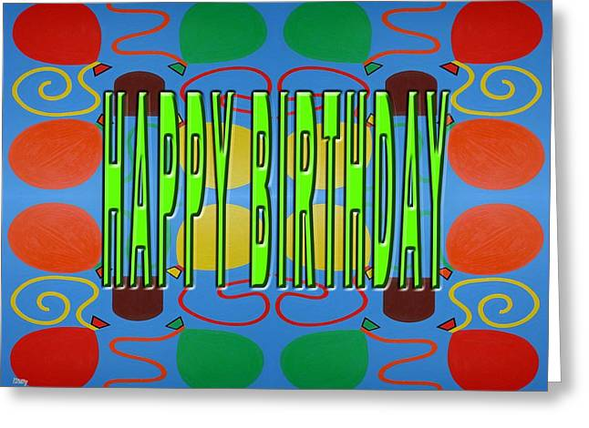 Tablets Greeting Cards - Happy Birthday 59 Greeting Card by Patrick J Murphy