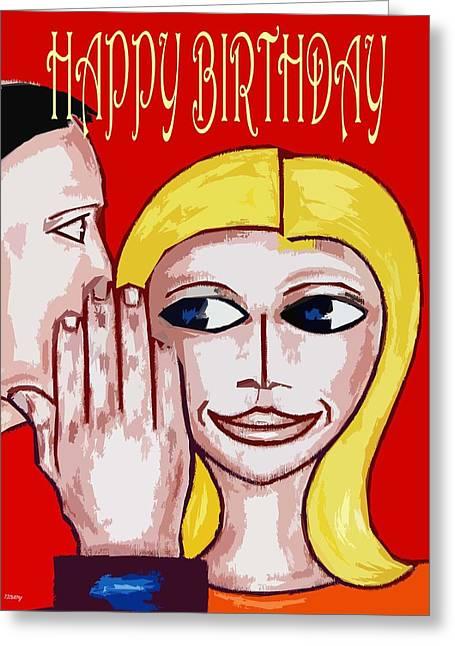 Celebration Art Print Greeting Cards - Happy Birthday 6 Greeting Card by Patrick J Murphy