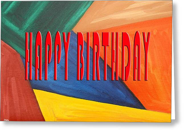 Celebration Art Print Greeting Cards - Happy Birthday 65 Greeting Card by Patrick J Murphy
