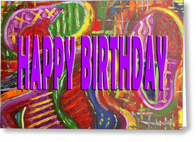 Tablets Greeting Cards - Happy Birthday 66 Greeting Card by Patrick J Murphy