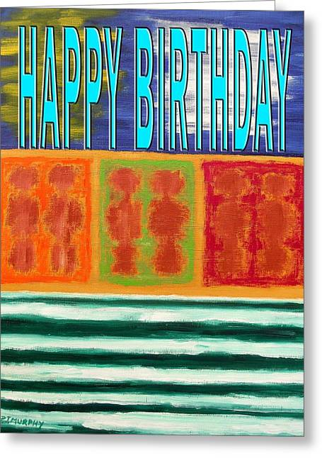 Celebration Art Print Greeting Cards - Happy Birthday 69 Greeting Card by Patrick J Murphy