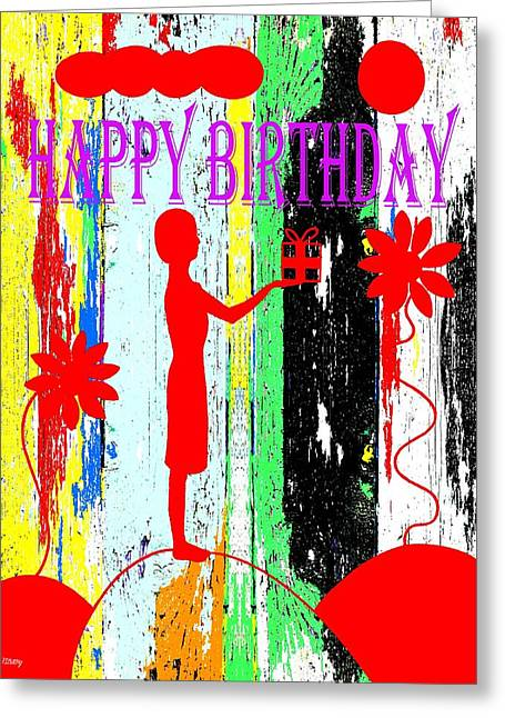 Celebration Art Print Greeting Cards - Happy Birthday 7 Greeting Card by Patrick J Murphy