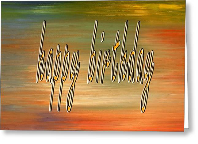 Celebration Art Print Greeting Cards - Happy Birthday 70 Greeting Card by Patrick J Murphy
