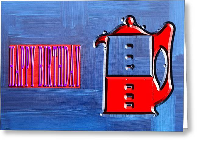 Celebration Art Print Greeting Cards - Happy Birthday 71 Greeting Card by Patrick J Murphy