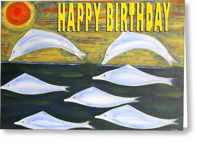 Celebration Art Print Greeting Cards - Happy Birthday 72 Greeting Card by Patrick J Murphy